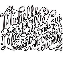 Michelle ma belle Photographic Print