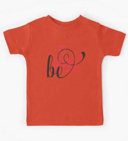Be Mine Curly Typography Kids Tee