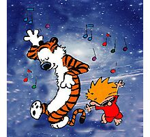 Dancing Calvin and Hobbes Photographic Print