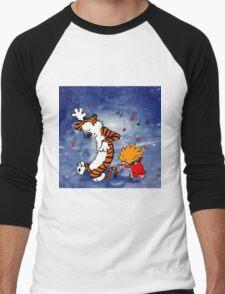Dancing Calvin and Hobbes Men's Baseball ¾ T-Shirt