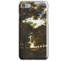 Simon Jacobsz de Vlieger (Rotterdam - Weesp ), A Wooded Landscape with a Flock of Sheep on a Track iPhone Case/Skin