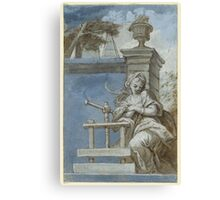 SOUTH GERMAN, CIRCA  Allegory of the art of printing Canvas Print
