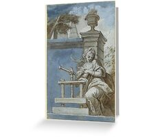 SOUTH GERMAN, CIRCA  Allegory of the art of printing Greeting Card