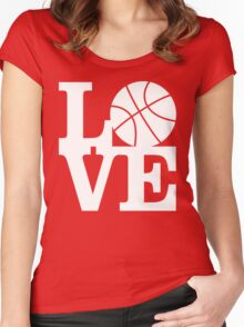 Basketball - Love Women's Fitted Scoop T-Shirt