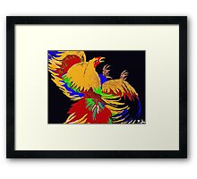 Cock Fight Framed Print