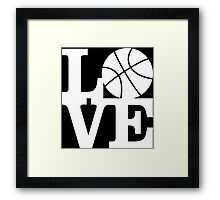 Basketball - Love Framed Print