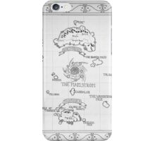 Azeroth map - Black and White hand drawn iPhone Case/Skin
