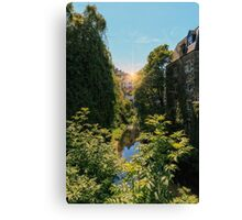 Water of Leith with Dean Village, Edinburgh Canvas Print