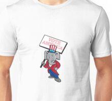 Republican Elephant Mascot Vote America Cartoon Unisex T-Shirt