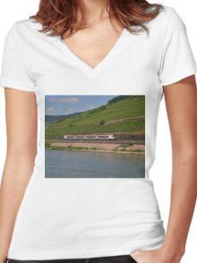 German Passenger Train Women's Fitted V-Neck T-Shirt