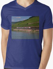 German Passenger Train Mens V-Neck T-Shirt