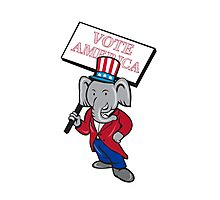 Republican Elephant Mascot Vote America Cartoon Photographic Print