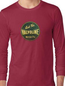 Valvoline Vintage dieselpunk signboard Long Sleeve T-Shirt
