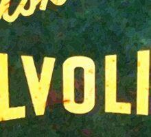 Valvoline Vintage dieselpunk signboard Sticker