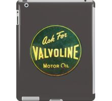Valvoline Vintage dieselpunk signboard iPad Case/Skin