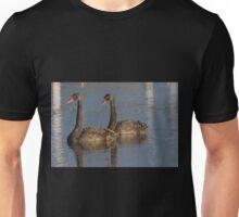 Sunset Swan Pair Unisex T-Shirt
