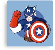 Captain America- the Star Spangled Man with a Plan Canvas Print