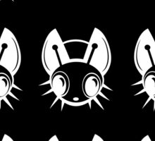 Black and white fireflies  Sticker