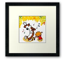 Dance Calvin and Hobbes  Framed Print