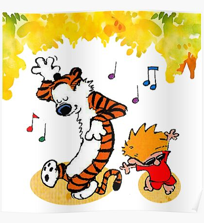 Dance Calvin and Hobbes  Poster