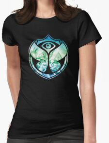 Tomorrowland logo - Picture - people - Festival - Gradient Blue Womens Fitted T-Shirt