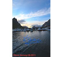 Lofoten Islands - Reine port - Norway . Anno Domini 2011. © Dr.Andrzej Goszcz. Photographic Print