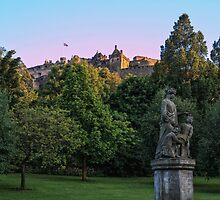 The Genius of Architecture Statue below Edinburgh Castle by Miles Gray