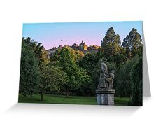 The Genius of Architecture Statue below Edinburgh Castle Greeting Card