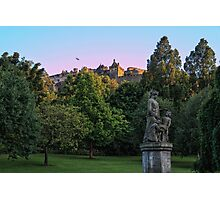 The Genius of Architecture Statue below Edinburgh Castle Photographic Print
