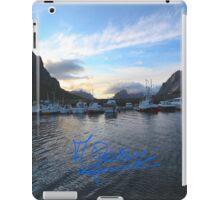Lofoten Islands - Reine port - Norway . Anno Domini 2011. © Dr.Andrzej Goszcz. iPad Case/Skin
