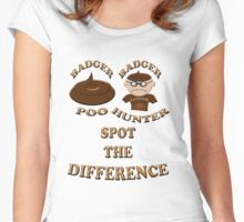 badger hunter or poo Women's Fitted Scoop T-Shirt