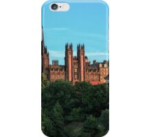 The Scottish National Gallery and Edinburghs Old Town iPhone Case/Skin