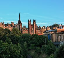 The Scottish National Gallery and Edinburghs Old Town by Miles Gray