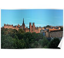 The Scottish National Gallery and Edinburghs Old Town Poster