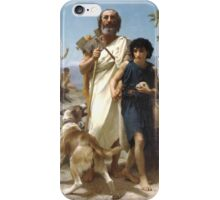 William-Adolphe Bouguereau () - Homer and his Guide iPhone Case/Skin