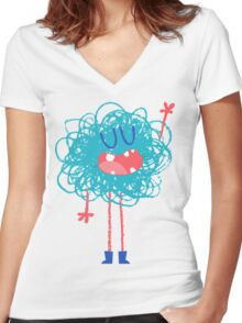 Gribouilli Women's Fitted V-Neck T-Shirt