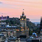 Edinburgh Skyline from Calton Hill. Scotland by Miles Gray