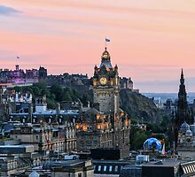 Edinburgh Skyline from Calton Hill. Scotland by Miles Gray