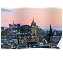 Edinburgh Skyline from Calton Hill. Scotland Poster