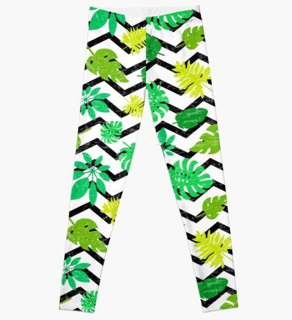 Bright tropical leaf Leggings
