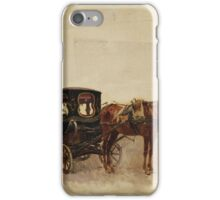 Alberto Pasini (Busseto ), Carrozza con cavallo iPhone Case/Skin