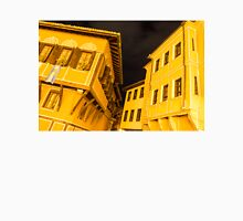 Golden Yellow Night - Elegant Revival Facades and Oriel Windows Unisex T-Shirt
