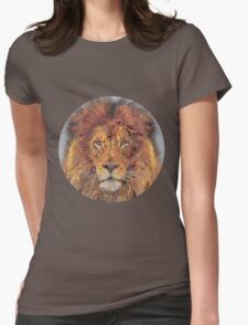 Lion made of circles Womens Fitted T-Shirt