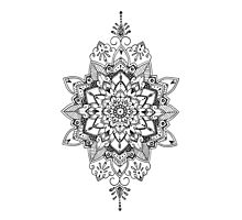 Floral Detailed Mandala Photographic Print