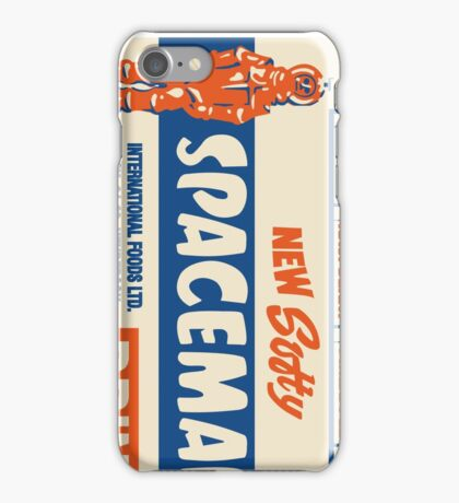 Spaceman Drinks Poster 1970s iPhone Case/Skin