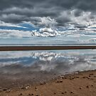 Reflections on the beach by Jeremy Lavender Photography