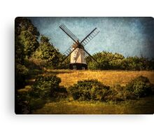 Cobstone Windmill Above Turville Canvas Print