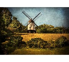 Cobstone Windmill Above Turville Photographic Print