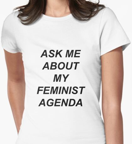 Bobbi Morse - Ask me about my feminist agenda Womens Fitted T-Shirt