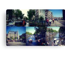 Photo collage Amsterdam 1 Canvas Print
